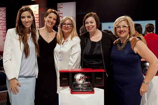 North American Jury members, including TPD CEO Leslie Meingast, with the 2014 finalist and laureate, Eleni Antoniadou.