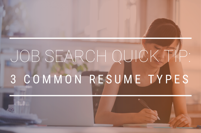 JOB SEARCH QUICK TIP